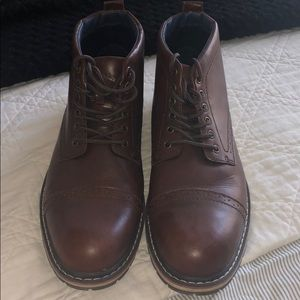 Men's size 13 Sonoma brown boots.